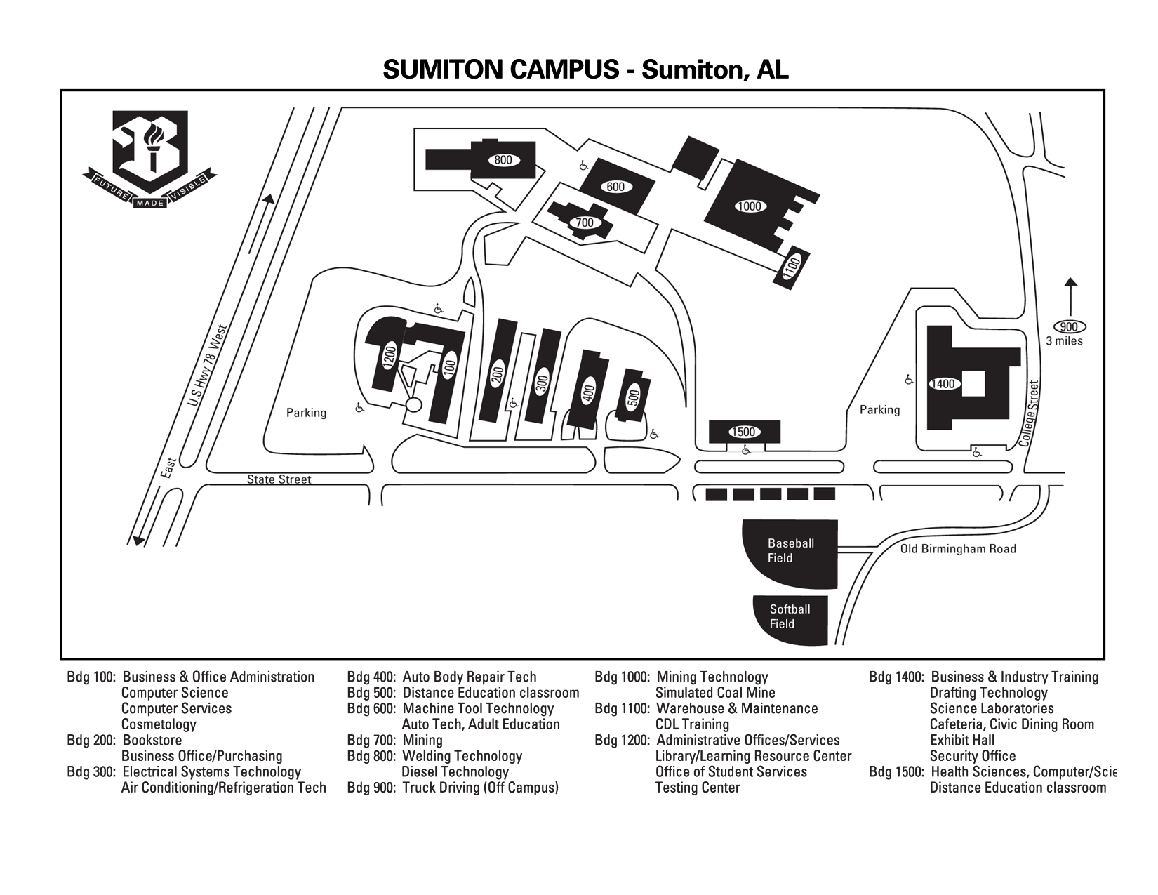 Bevill State Sumiton Campus Map